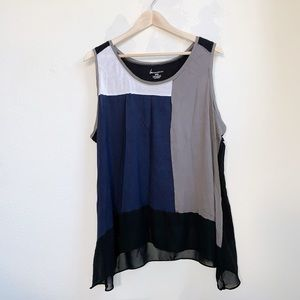 Lane Bryant | Color Block Flowy Tank Top